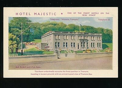 Ireland Waterford TRAMORE BAY Hotel Majestic Advert c1910/30s? PPC