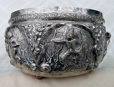 Solid Silver Burmese / Indian Bowl