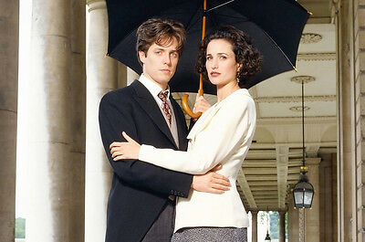 Four Weddings and a Funeral Hugh Grant Andie MacDowell pose 24x36 Movie Poster