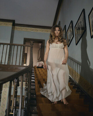 The Vampire Lovers Ingrid Pitt Kate O'Mara in negligee on staircase 8x10 Photo