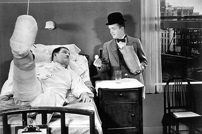 Laurel and Hardy County Hospital hard boiled eggs and nuts 24x36 Poster