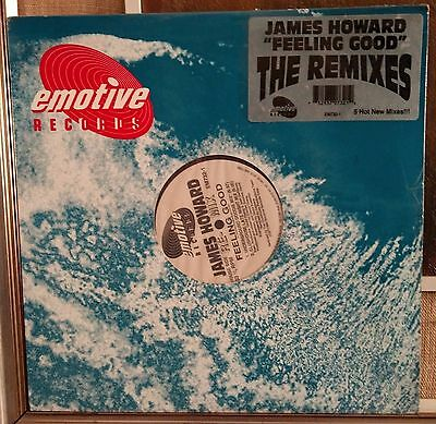 "James Howard-Feeling Good (The Remixes) 12"" Mix Sealed Emotive Records EM732-1"