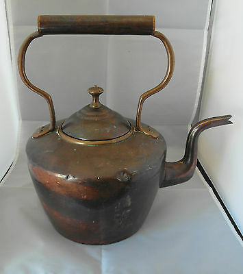 Victorian Lrg Copper & Brass Kettle