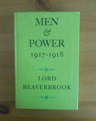 Lord Beaverbrook Ww1 Autobiography Old Book