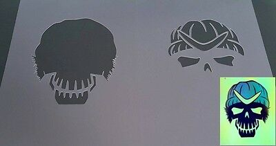 SUICIDE SQUAD MOVIE BOOMERANG Airbrush Reusable Stencil Craft Graffiti Poster