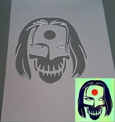 SUICIDE SQUAD MOVIE KATANA Airbrush Reusable Stencil Craft Graffiti Card Poster
