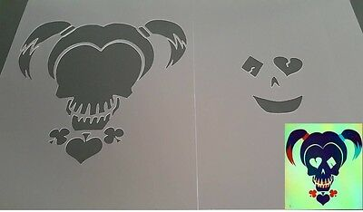 SUICIDE SQUAD MOVIE HARLEY QUINN Airbrush Reusable Stencil Craft Graffiti Poster