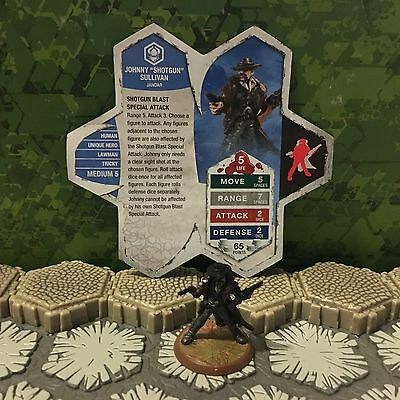 "Heroscape Figure: Johnny ""Shotgun"" Sullivan from Jandar's Oath w/card"