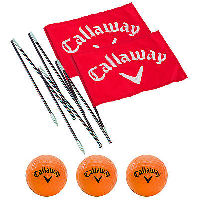 Callaway Back Garden Driving Range Kit New Back Yard Practice Balls Flags Poles