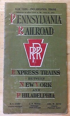 1912 Pennsylvania Railroad Express Trains Between New York & Philadelphia