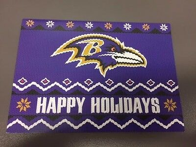 2016 Baltimore Ravens Holiday Christmas Card & Team Photo - Season Ticket Holder