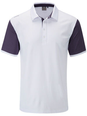 Ping Sotto Tailored Fit Polo - White/Nightshade