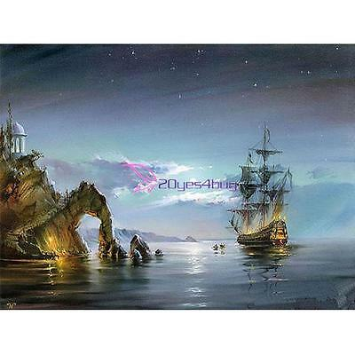 40*30cm Paint By Number Kit Digital On Canvas DIY Oil Painting -  Sailing Ship