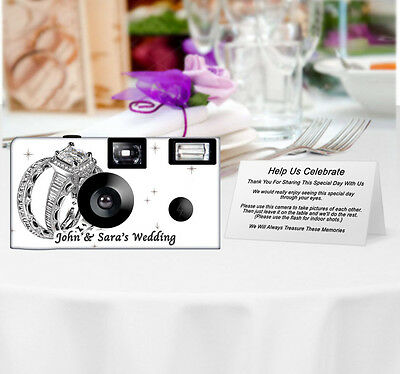 20 Shimmering Engagement on White Disposable Cameras-PERSONALIZE-wedding camera
