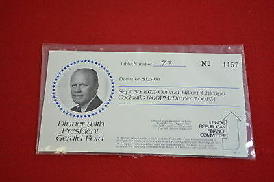 Dinner with President Gerald Ford Ticket 1975 Hilton Chicago  1344
