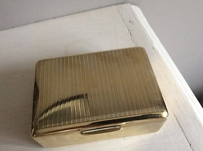 Vintage 40/50s Solid Brass Cigarette/ Trinket Box State Express.