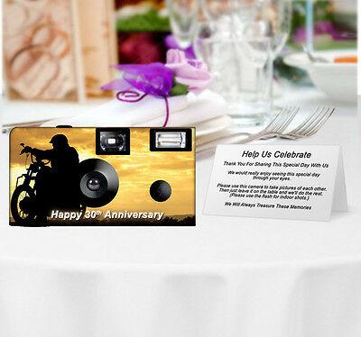 20 Motorcycle Disposable Cameras-PERSONALIZE-wedding camera/anniversary