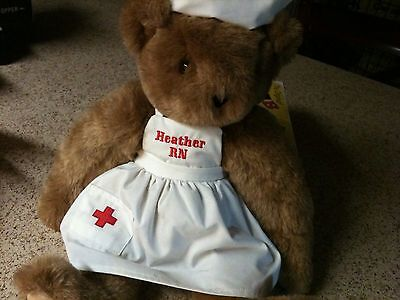"""Vermont Teddy Bear with """"Nurse"""" Outfit"""