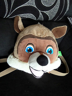 """RJ Raccoon From Over The Hedge Back Pack Bag  Novelty Children`s Bag 13"""" x 16"""""""
