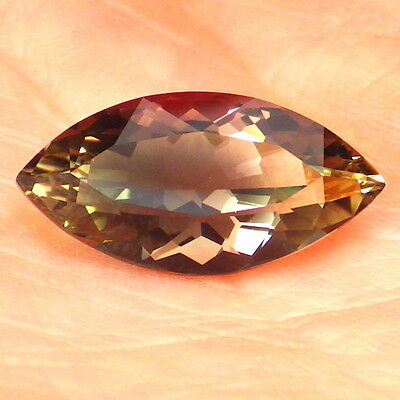 """GREEN-TEAL-PINK """"MYSTIQUE"""" OREGON SUNSTONE 3.81Ct FLAWLESS-TOP INVESTMENT GRADE!"""