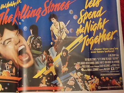 Rolling Stones Promo Film Poster 1983 Let's Spend The Night Together