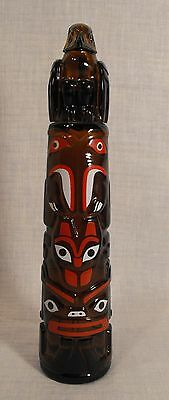 """Vintage Avon Totem Pole Decanter Bottle Wild Country After Shave,  9.75"""" Tall"""