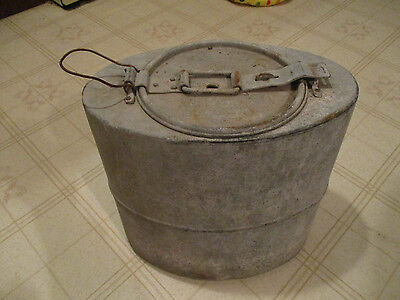 Vintage Fishing Sealshipt Oyster Galvanized Shipping Packing Bucket Can