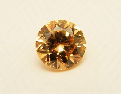 Champagne Colour Cubic Zirconia Round 7mm Loose Single Stone