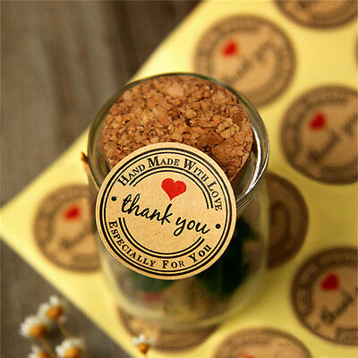12/60/120pcs Thank You Hand Made with Love Especially for You Stickers Label LWY