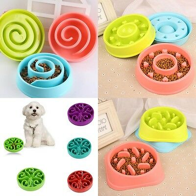 4 Style Puppy Dog Slow Down Eating Feeder Dish Pet Dog Cat Feeding Food Bowl