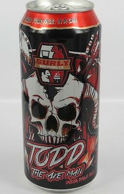 SURLY TODD THE AXE MAN IPA BEER CAN Minneapolis Minnesota 16oz craft micro
