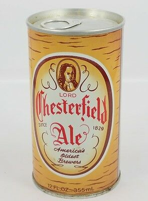 Lord Chesterfield Ale BEER CAN YUENGLING & SON Pottsville PA SPRING WATER