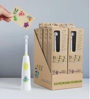 Jack N' Jill Buzzy Brush Kids Electric Musical Toothbrush Or 2 Replaceable Heads