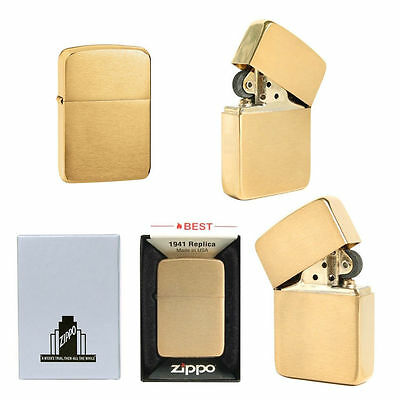 Zippo 1941B BRASS VINTAGE LTR / Made in USA GENUINE/ USA Version