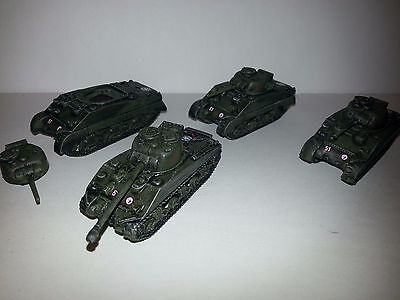 Flames of War FOW Canadian Sherman III & Firefly VC 15mm painted