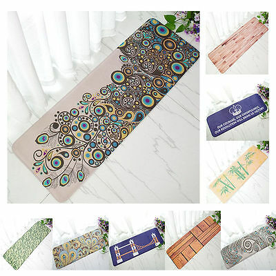 40*120cm Doormat Carpet Floor Door Mat Bedroom Kitchen Bath Rug Pad Anti Slip