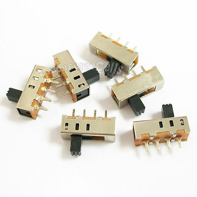 20 pcs 3 Position SPDT Vertical Slide Switch Small Mini Size ON-OFF 4 Pin PCB