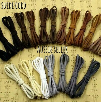 3mm flat thick faux suede cord felt leather jewellery making length necklace DIY