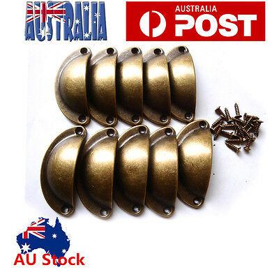 20 x Antique Cupboard Cabinet Knob Cup Drawer Furniture Door Shell Pull Handles