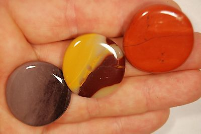 3 MOOKAITE PALM STONES 23g Healing Crystals, Worry Thumb Flat, Decision Making