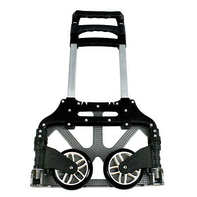 Aluminium Folding Cart Dolly Push Truck Hand Collapsible Trolley Luggage 170 lbs