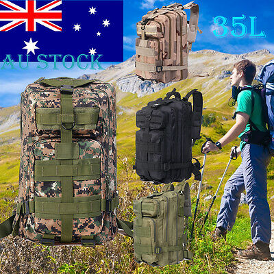 35L 3P Tactical Outdoor Army Military Rucksack Hiking Sport Camping Backpack Bag