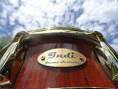 NEW .Indi Drums Australia, Red gum 14 x 5 1/2 inch, snare drum.