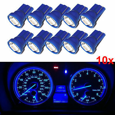 10x Blue T10 Wedge 5050 SMD LED Instrument Panel Lights W5W Indicator Bulbs