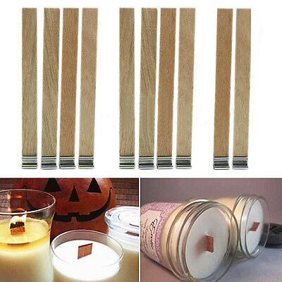 10pcs Candle Wood Wicks with Sustainer Tabs for Candle DIY Making Supplies Tool