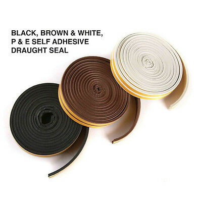 25mm*5m Draft Draught Window Door Excluder Seal Tape Self-Adhesive Waterproof BT