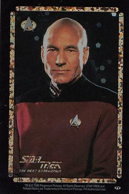 Star Trek TNG 1996 Vending Machine card/sticker with Picard close up