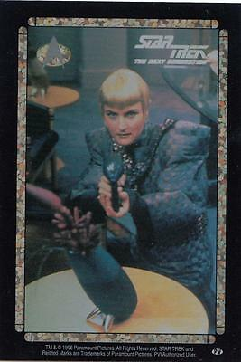 Star Trek TNG 1996 Vending Machine card/sticker with Sela