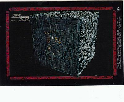 Star Trek TNG 1996 Vending Machine card/sticker with Borg cube ship