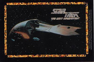 Star Trek TNG 1996 Vending Machine card/sticker with Ferengi ship